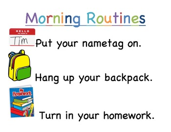 Morning Routines Poster-FREE