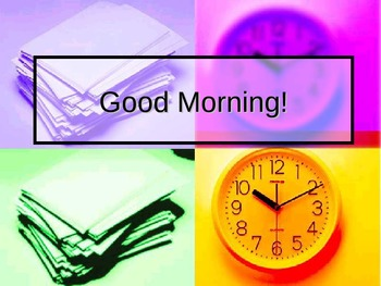 Morning Routines PowerPoint