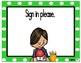 Morning Routines Task Card Reminders (Green Polka Dots)