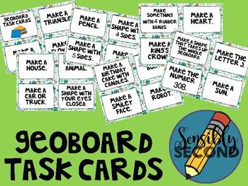 Morning STEM - Geoboard Stick Task Cards