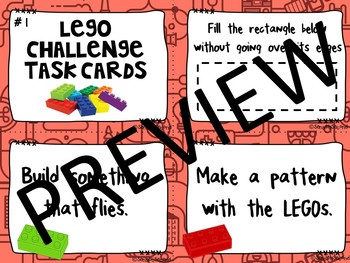 Morning STEM - LEGO Challenge Task Cards