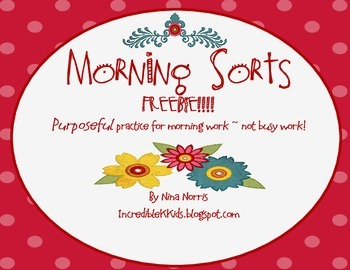 Morning Sorts - Freebie