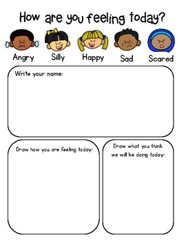 Morning Sign-In Sheet Social-Emotional