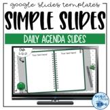 Morning Slides | Simple Daily Agenda | Google Slides Templates