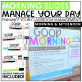 Morning Slides with Timers | Editable | Classroom Management