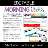 Morning Slides with Timers | Editable | PowerPoint & Googl