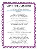 Morning Song - Listening & Learning