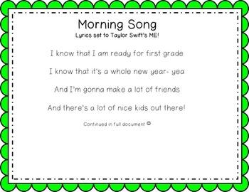 Morning Song Lyrics- Set to ME!