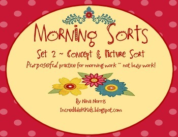 Morning Sorts - Set 2 - Concept Sort