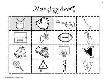 Morning Sorts - Set 3 - More Concepts