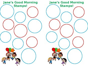 Morning Stamp Chart