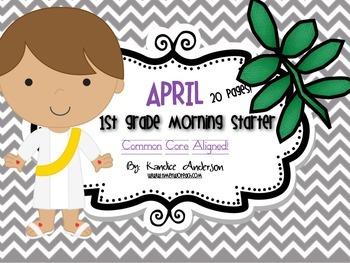 Morning Starter, Everyday Work April {RELIGIOUS}- Common Core Aligned