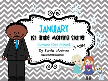 Morning Starter, Everyday Work {January}- Common Core Aligned