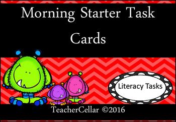 Morning Starter Task Cards