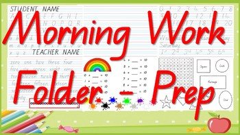 Morning Student Work Folder - QLD Font