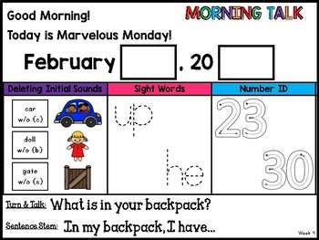 Morning Talk of February {Interactive Morning Message}