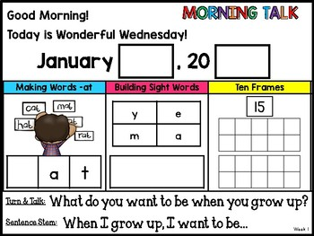 Morning Talk of January {Interactive Morning Message}