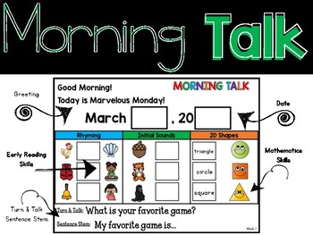 Morning Talk of March {Interactive Morning Message}