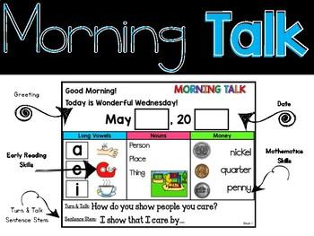 Morning Talk of May & June {Interactive Morning Message}