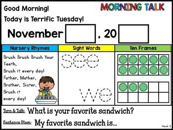 Morning Talk of November {Interactive Morning Message}