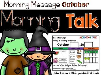 Morning Talk of October {Interactive Morning Message}