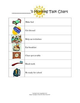Morning Task Chart {FREEBIE}