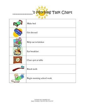Morning Task Chart for Homeschool Boys {FREEBIE}