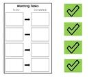 Morning Tasks Checklist