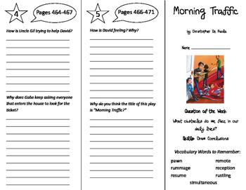 Morning Traffic Trifold - Reading Street 6th Grade Unit 3 Week 5