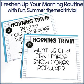 Morning Trivia - May & June Edition