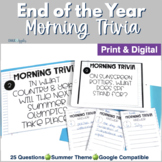 Morning Trivia - May & June Edition
