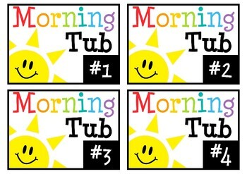 Morning Tub Labels