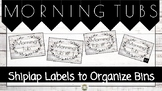 Rustic Morning Tub Labels