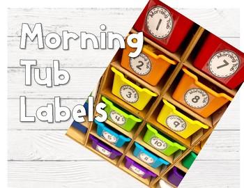 Morning Tub Labels