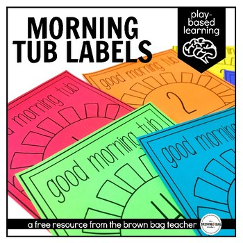 Morning Tub Labels: A Morning Work Alternative