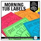 Morning Tub Labels: A Morning Work Alternative
