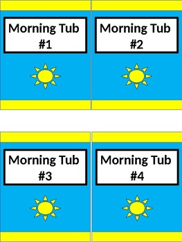 Morning Tub Labels - Lime & Teal & Yellow V.2 - Tall - Rising Sun