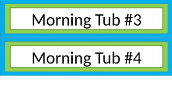 Morning Tub Labels - Narrow - Lime & Teal