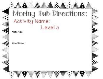 Morning Tub Labels and Direction Pages!