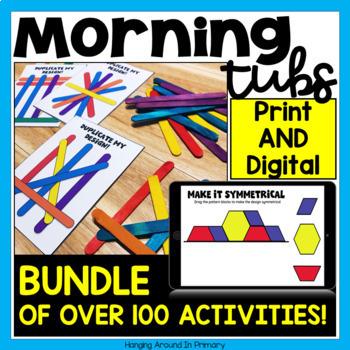 Morning Tub Tasks BUNDLE with DIGITAL Google Slides