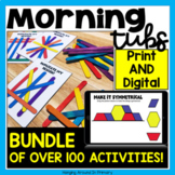 Morning Tubs | Math Centers BUNDLE with DIGITAL and PDF
