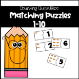 Counting Quantities Puzzles Numbers 1-10