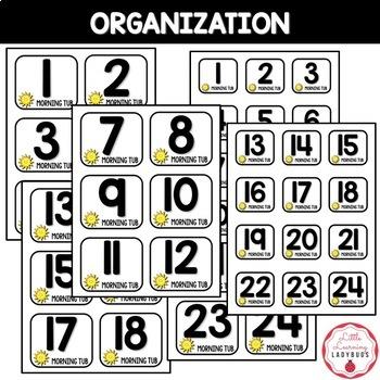 Morning Tubs Expectations & Organization