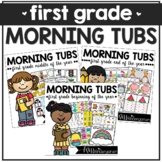 First Grade Morning Work Tubs | Math and Literacy Activities