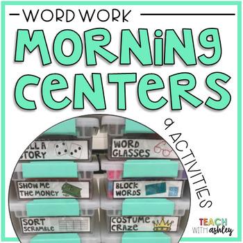 Morning Tubs: Word Work