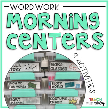 Word Work Morning Centers