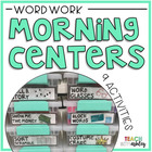 Morning Tubs: Word Work