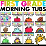 Morning Tubs for 1st Grade Growing Bundle