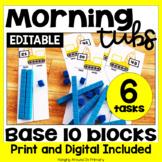 Morning Tubs with Base 10 Blocks
