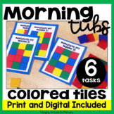 Morning Tubs | Math Centers with Colored Tiles | Digital and PDF
